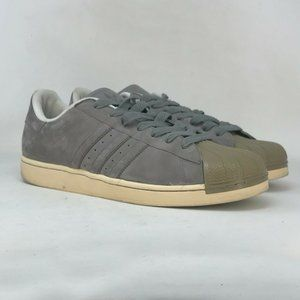 Adidas Mens Original Superstar G23481 Gray Sneaker Shoes Lace Up Low Top Size 13